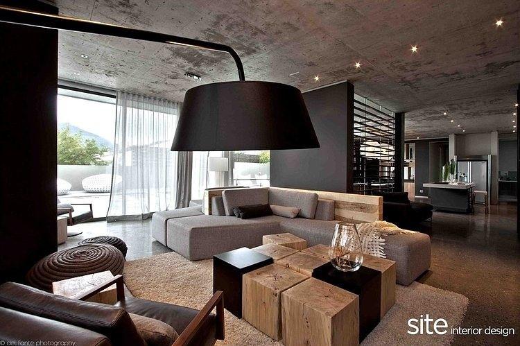 Living Room, Aupiais House By Site Interior Design