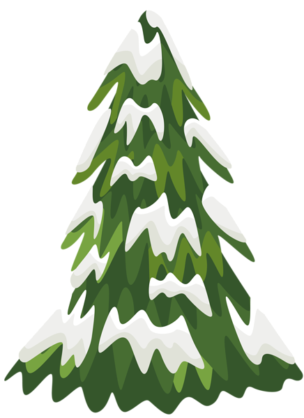 Snowy Pine Tree Png Clipart Image Christmas Tree Silhouette Christmas Tree With Snow Snowy Christmas Tree