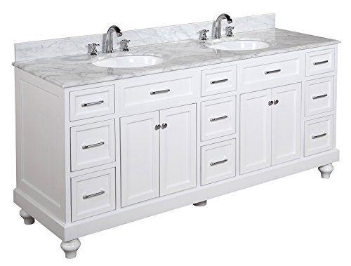 Amelia 72 Inch Bathroom Vanity Carrara White Includes White