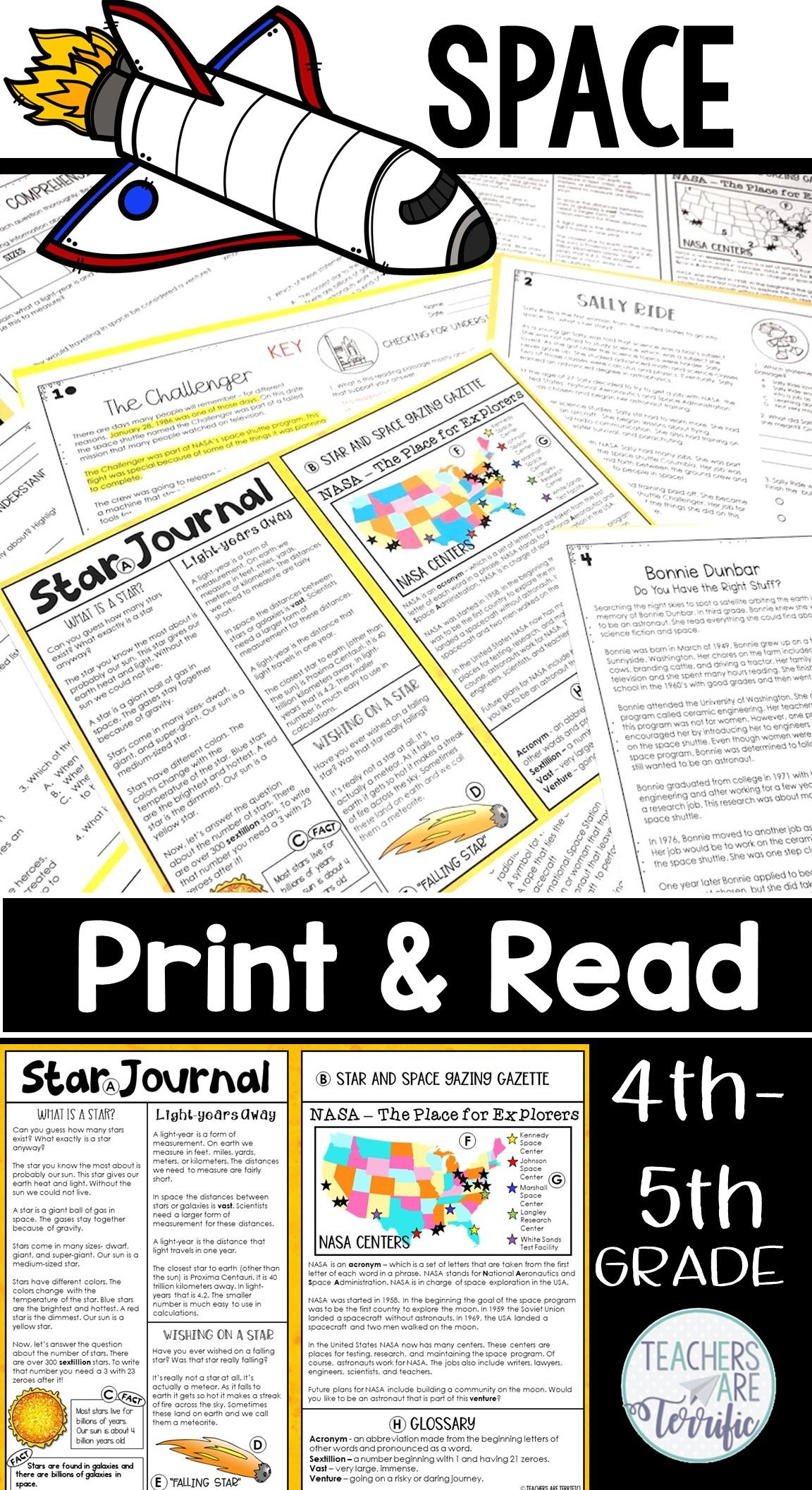 Space Reading Passages Print Amp Read Distance Learning