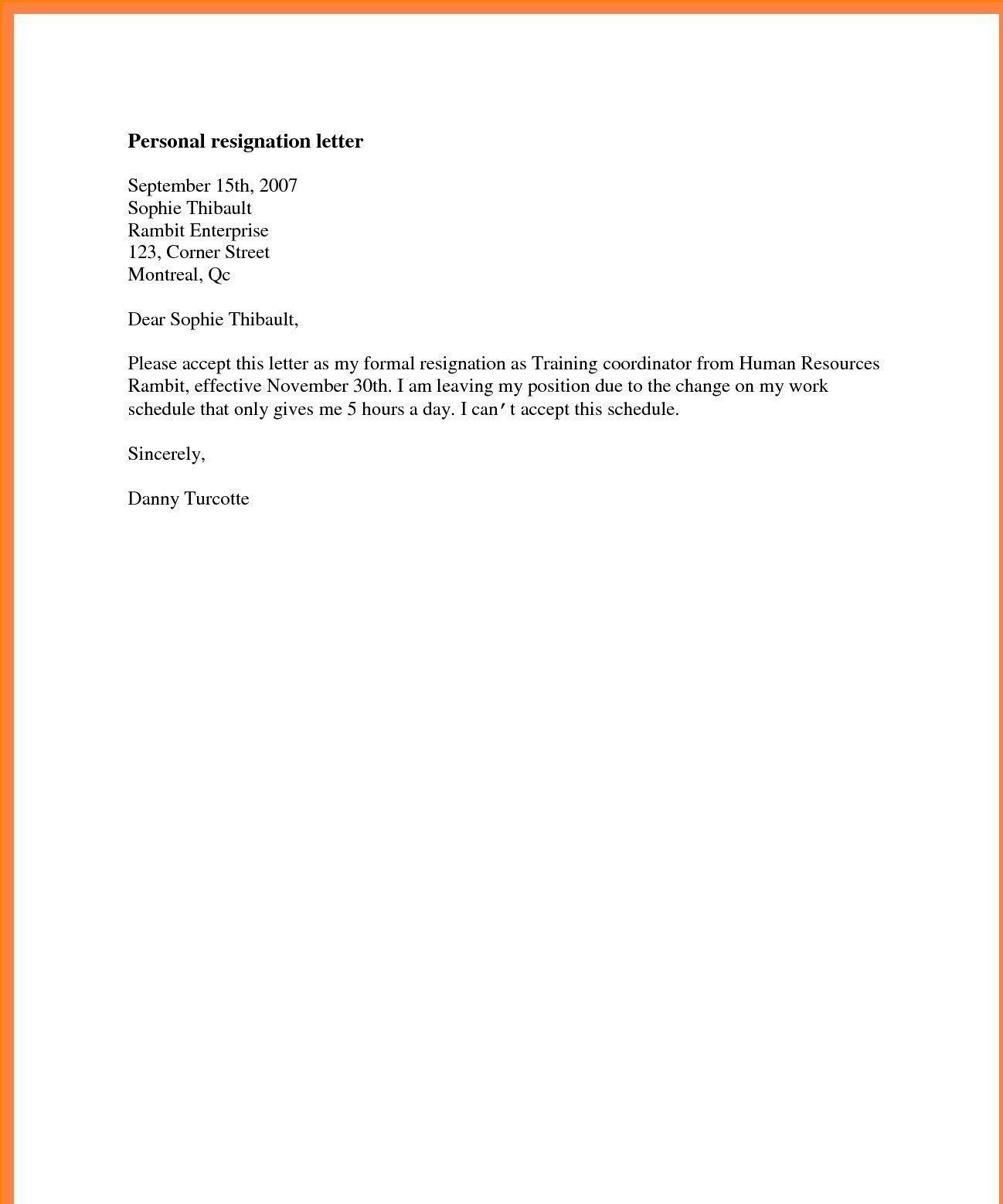 New Resignation Letter For Lecturer Job Resignation Letter