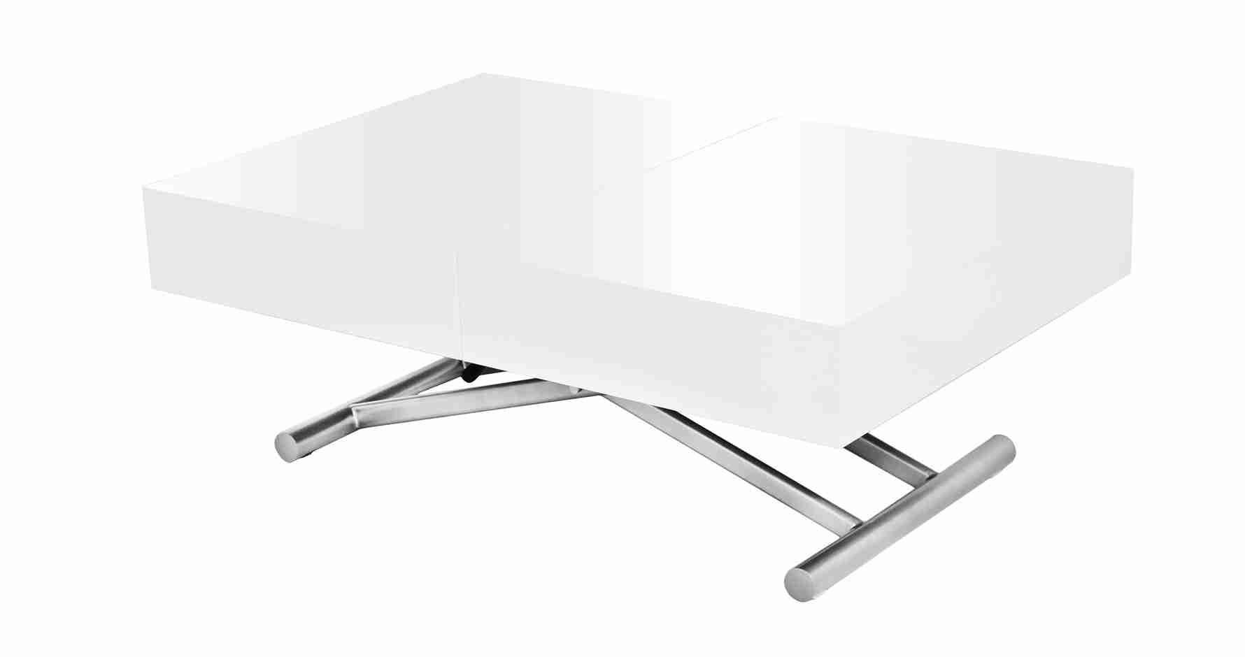 60 Ordinaire Table Basse Relevable Blanc Laque Avec Images