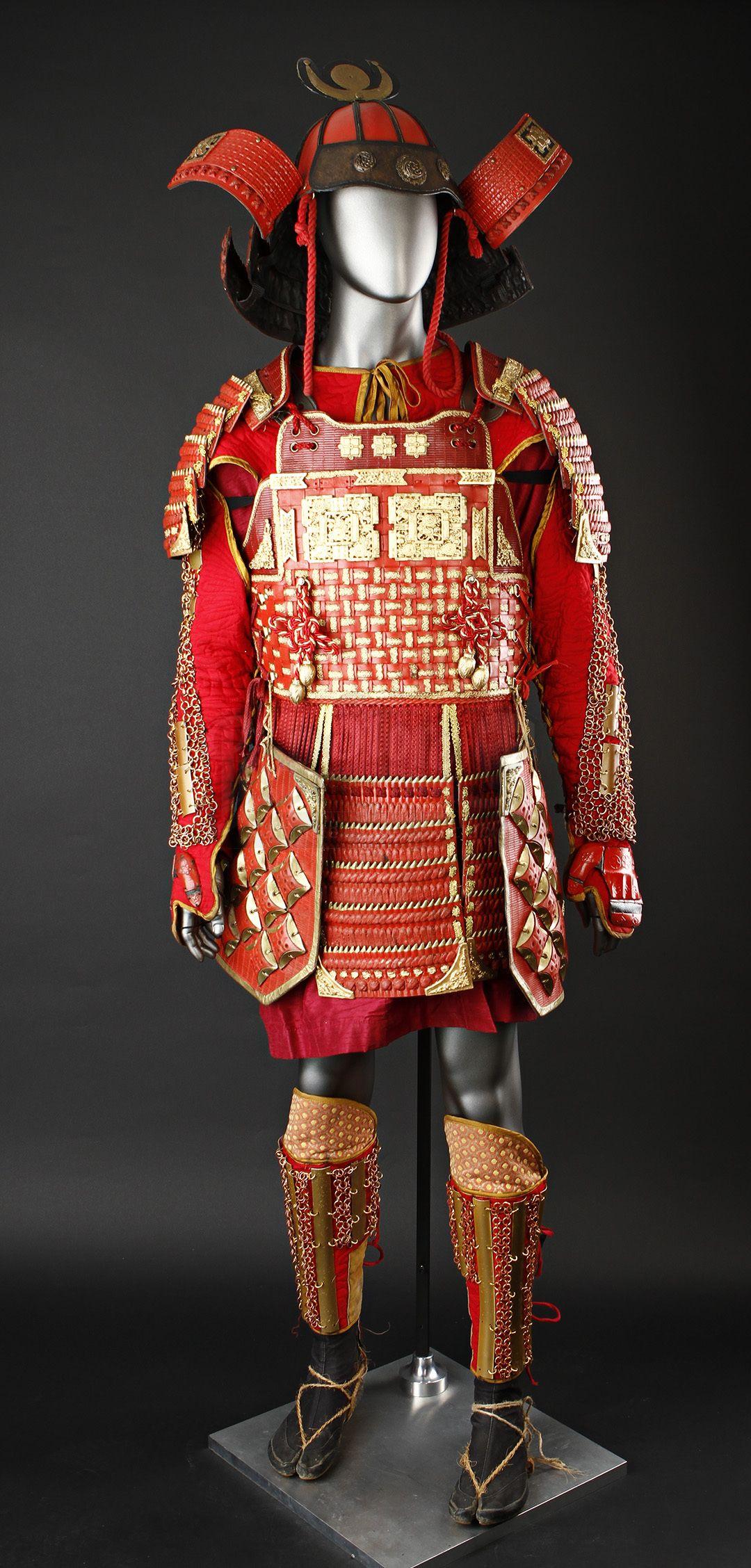 dce60a50034f7 Red Ako Clan Partial Samurai Warrior Costume