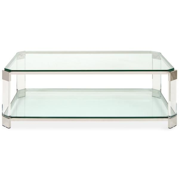 Transparent Green Glass Coffee Table In 2020 Rectangular Coffee Table Coffee Table Acrylic Coffee Table