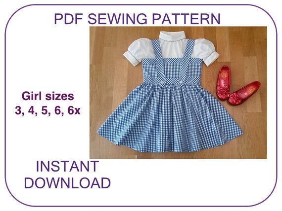 DOROTHY pdf sewing pattern tutorial. Wizard of Oz by ViaFUNICOLARE ...