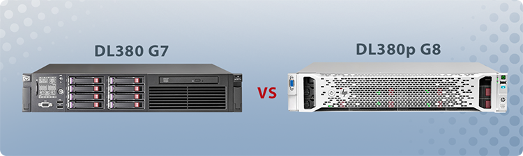 Comparison of the HP ProLiant DL380 G7 and DL380p G8