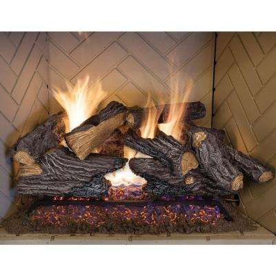 24 Vented Gas Fireplace Logs Gas Logs The Home Depot Natural Gas Fireplace Gas Fireplace Logs Gas Log Sets
