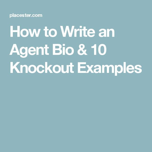how to write an agent bio 10 knockout examples real estate agent