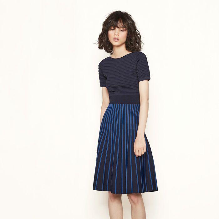 9b4f55dcdb0c TWO-TONE STRIPED KNIT DRESS | maje.com | Personal Style | Dresses ...
