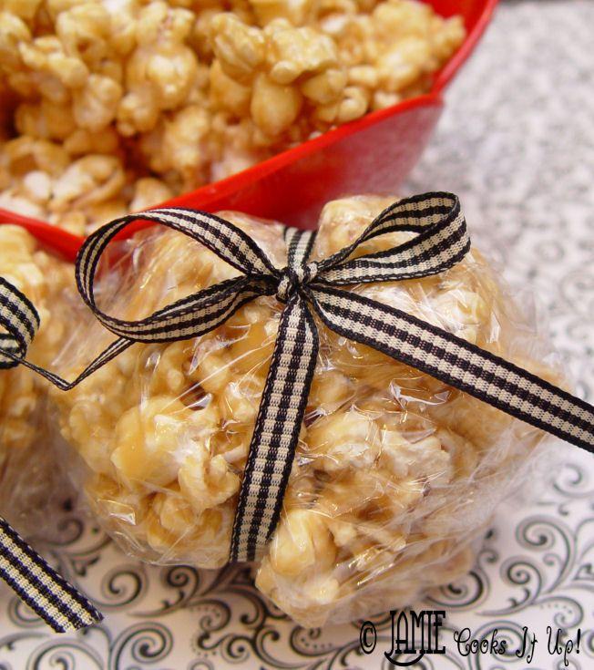 Caramel Popcorn Balls #popcornballs