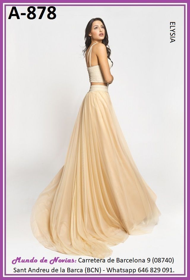 exclusivo y original vestido de novia bohemio y vintage con top y