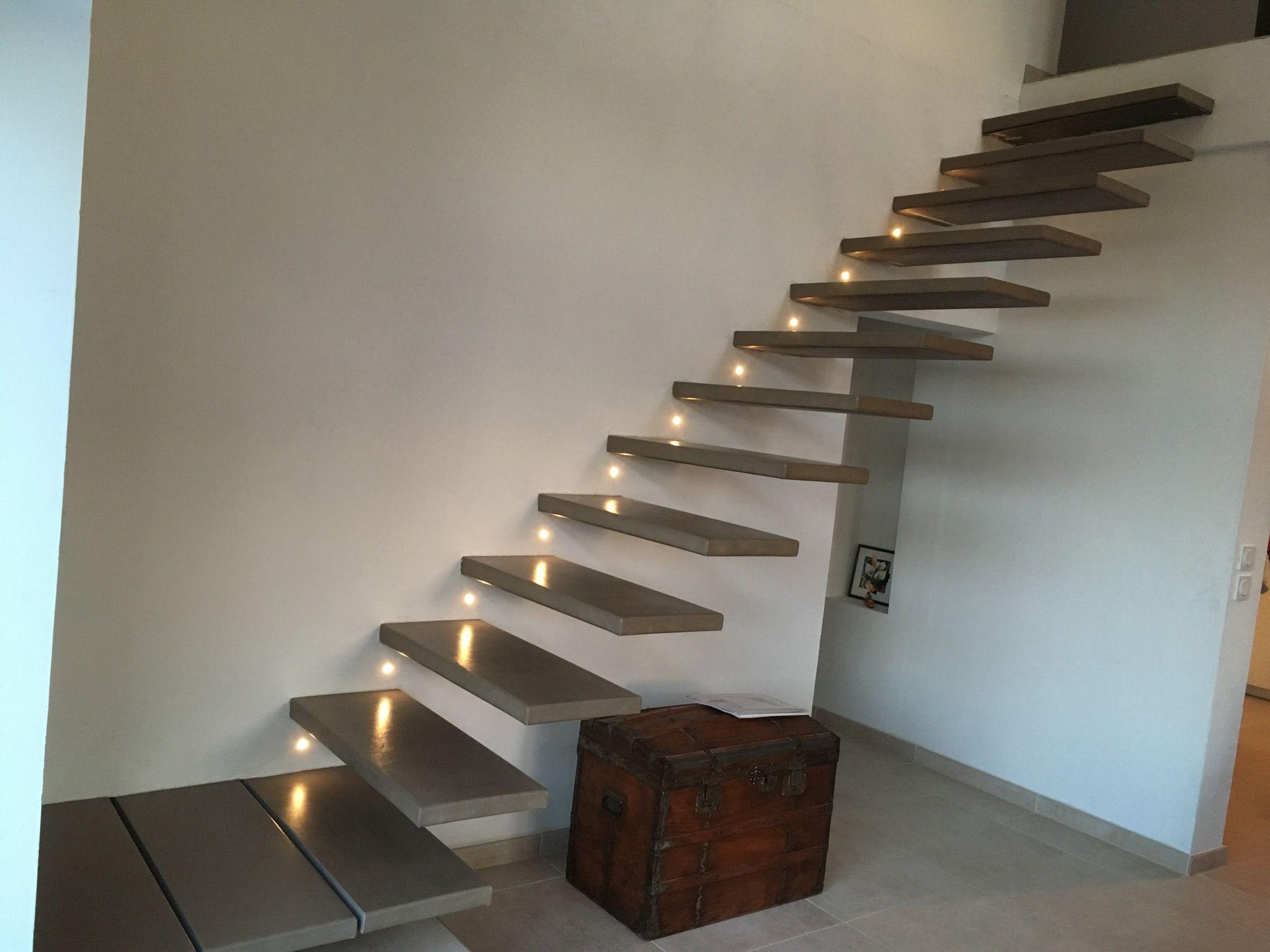 Escalier Mecano Boulonne Flottant Et Ajout De Lumiere Escalier