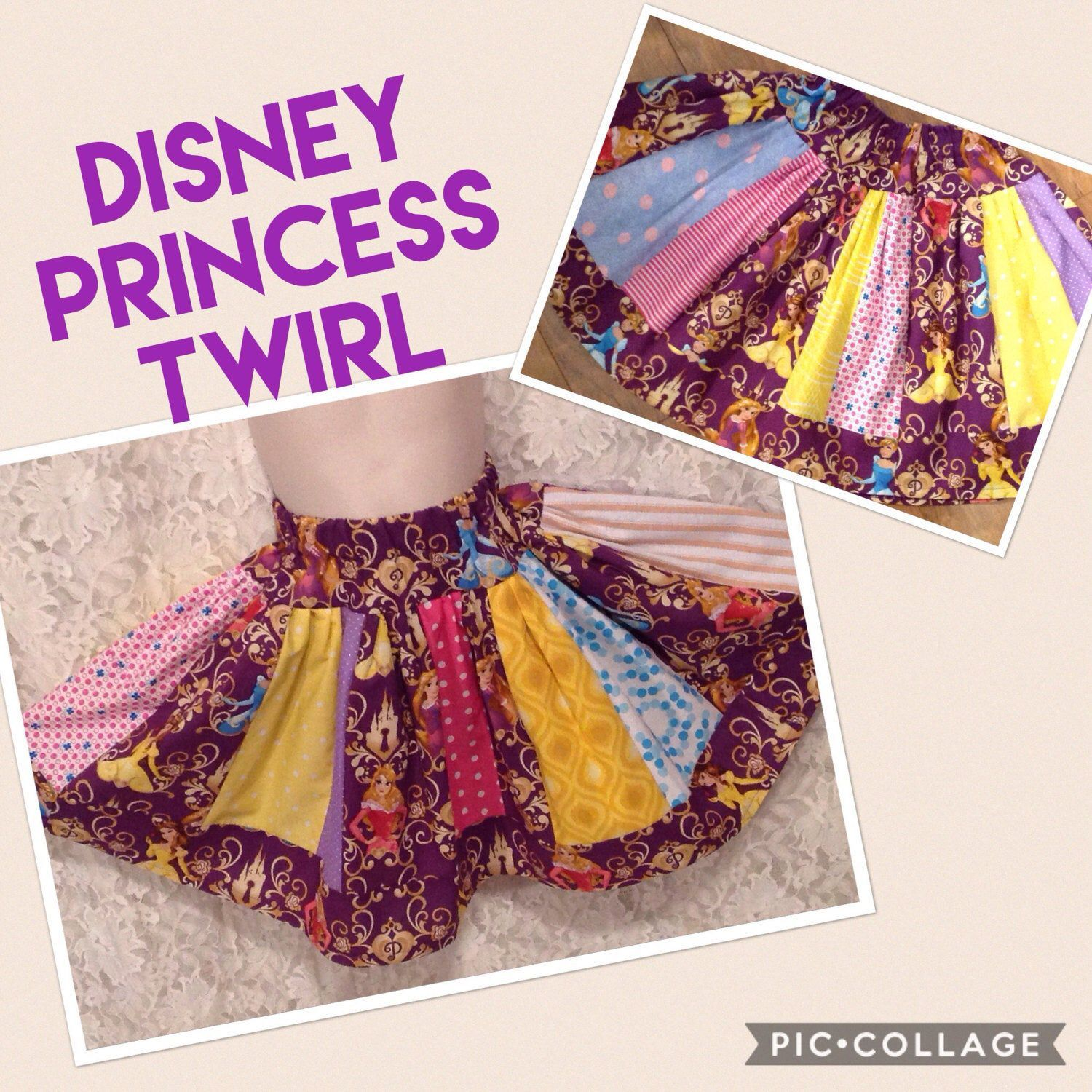 Princess Stripey Twirl Skirt * READY TO SHIP Disney boutique for girl size 3 4 pageant casual handmade Cinderella Belle Aurora #twirlskirt Excited to share this item from my #etsy shop: Princess Stripey Twirl Skirt * READY TO SHIP Disney boutique for girl size 3 4 pageant casual handmade Cinderella Belle Aurora #twirlskirt