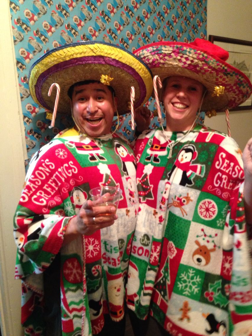 Tacky Sweater Christmas Party Ideas Part - 30: Ugly Christmas Sweater Mexican Style!