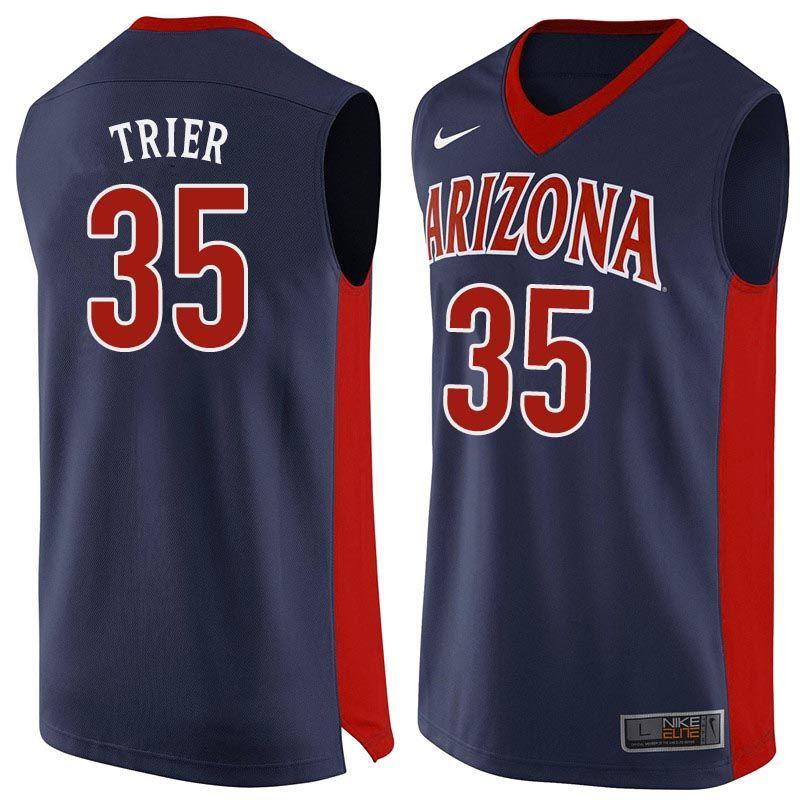 Men Arizona Wildcats #35 Allonzo Trier College Basketball Jerseys ...