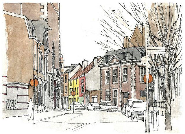 Liège, rue Fosse-aux-Raines by gerard michel, via Flickr
