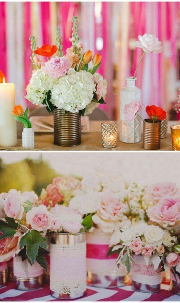 Zarte Feld Blumen und Hortensien  Deko  Dekoration