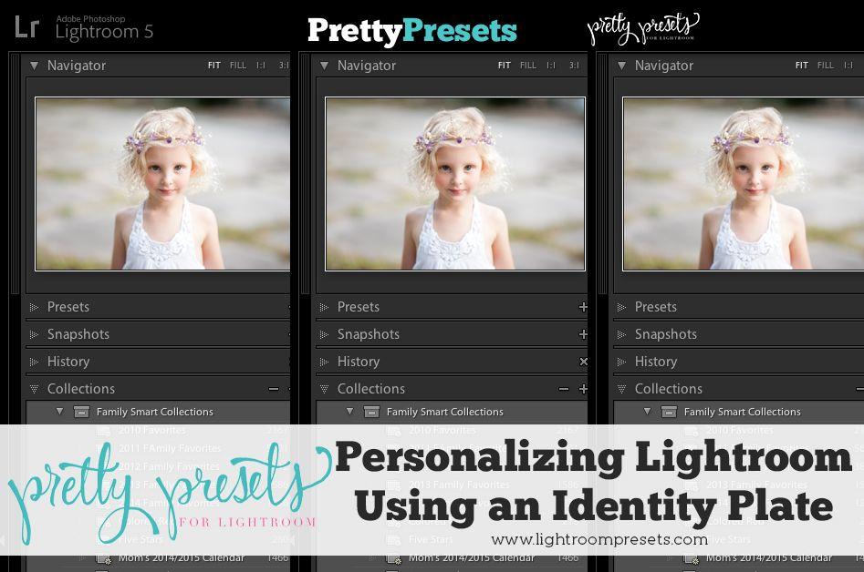 Lightroom identity plate
