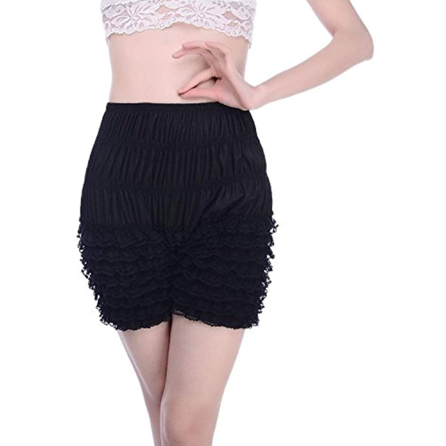 e164b613fd76 Women's Micromesh Lace Ruffle Tanga Shorts Sexy Ruffled Lace Panties Sissy  Pettipant Dance Bloomers Frilly Shorts ** More info could be found at the  image ...