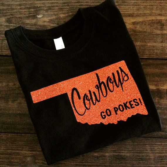 free delivery cheapest price large discount Oklahoma State Cowboys GLITTER T-Shirt OSU Glitter by MissyLuLus ...