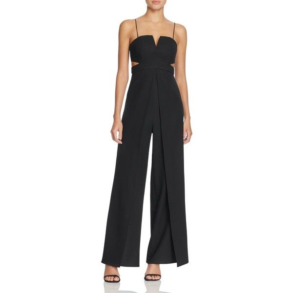 5e68f2eb8aeb Bariano Cutout Flyaway Jumpsuit ( 198) ❤ liked on Polyvore featuring  jumpsuits