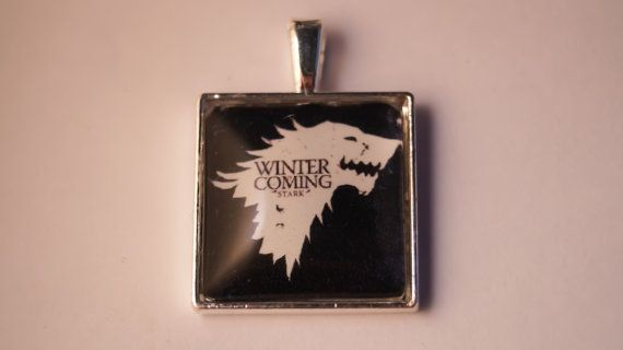 Winter is Coming, Game of Thrones Pendant.   £6.49 choose as a necklace or keyring. Ships worldwide.