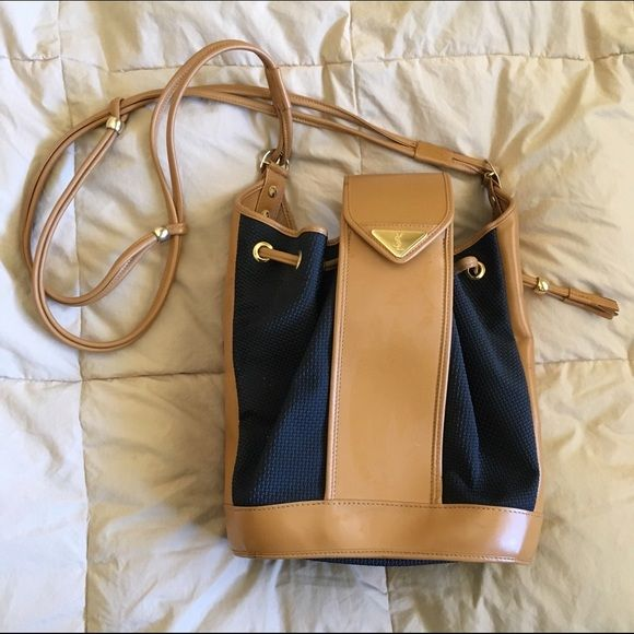 Ysl 1980s Black And Tan Bucket Bag This Is In Very Good Condition Besides A Few Marks Here There I Ve Had Care
