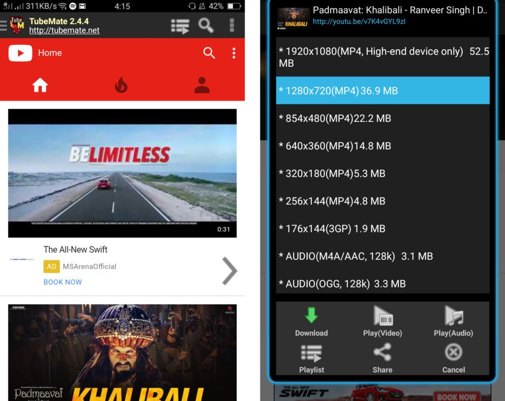 Tubemate the best apps for android 2018 Android apps
