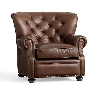 Lansing Leather Armchair Polyester Wrapped Cushions