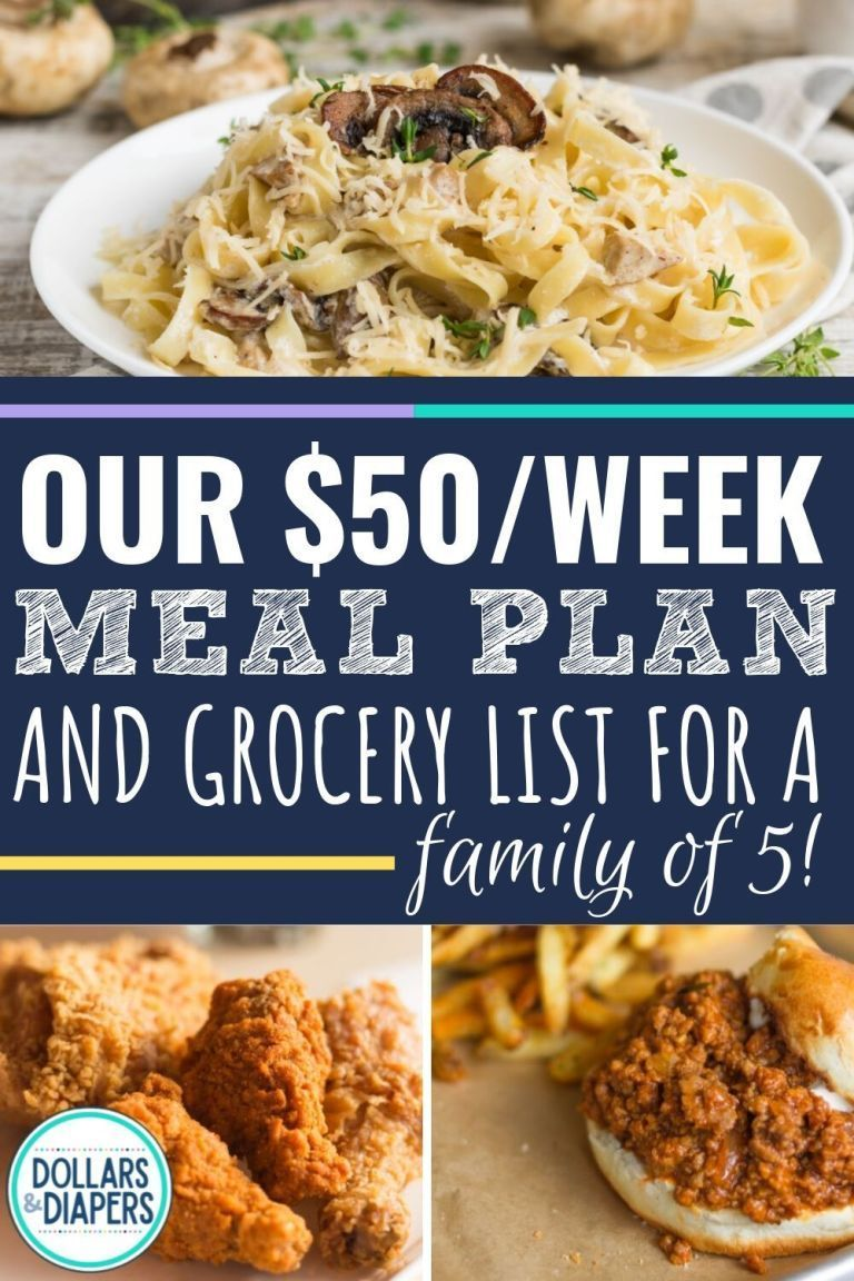 Photo of Our $50/Week Cheap Meal Plan For A Family of 5 – Are you trying to make a groc…