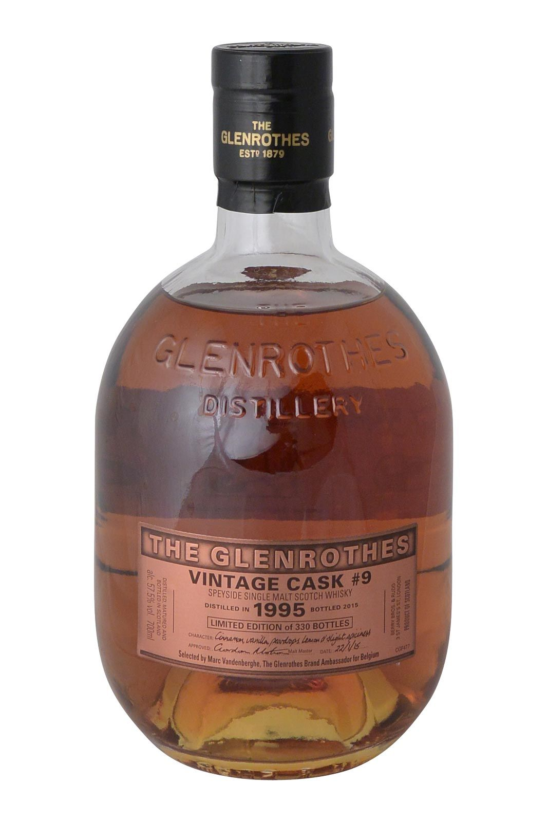 Glenrothes 1995 (private cask n9) | Bestwhisky.be