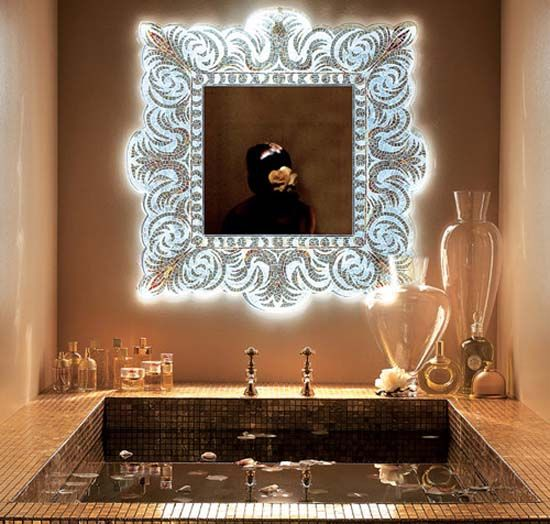 How To Decorate A Mirror With Mosaic Tiles Modern Wall Mirrors New Design Ideas For Unique Room Decor