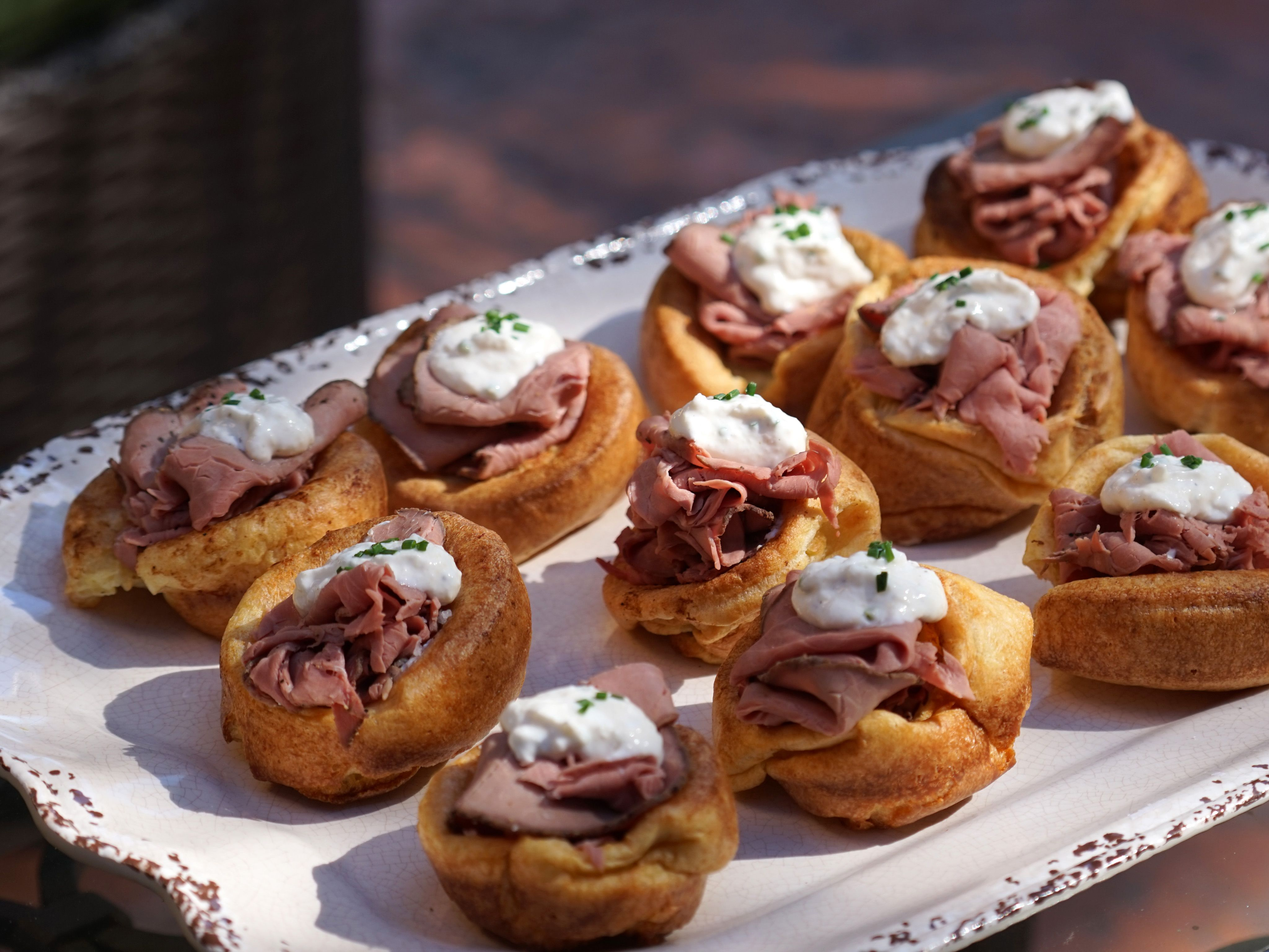 Popovers with Roast Beef and Horseradish Recipe