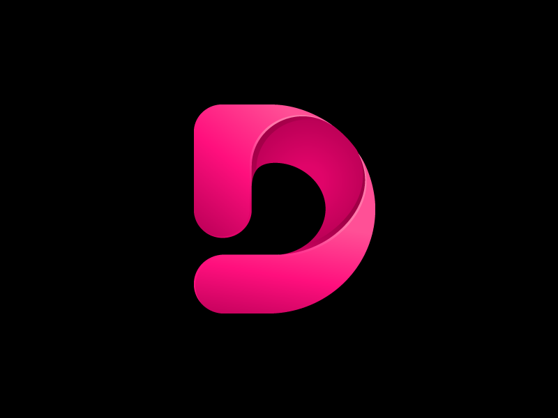 D Monogram Dribbble 2 Geometric Logo P Logo Design Golden Ratio Logo Design
