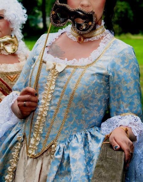 Barock Rococo Rokoko Kleid venezianische Kostüme Karneval Gr. 42 ...