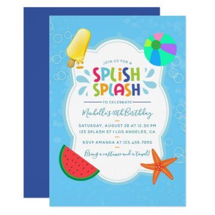 Splish splash birthday party invitation stopboris Images