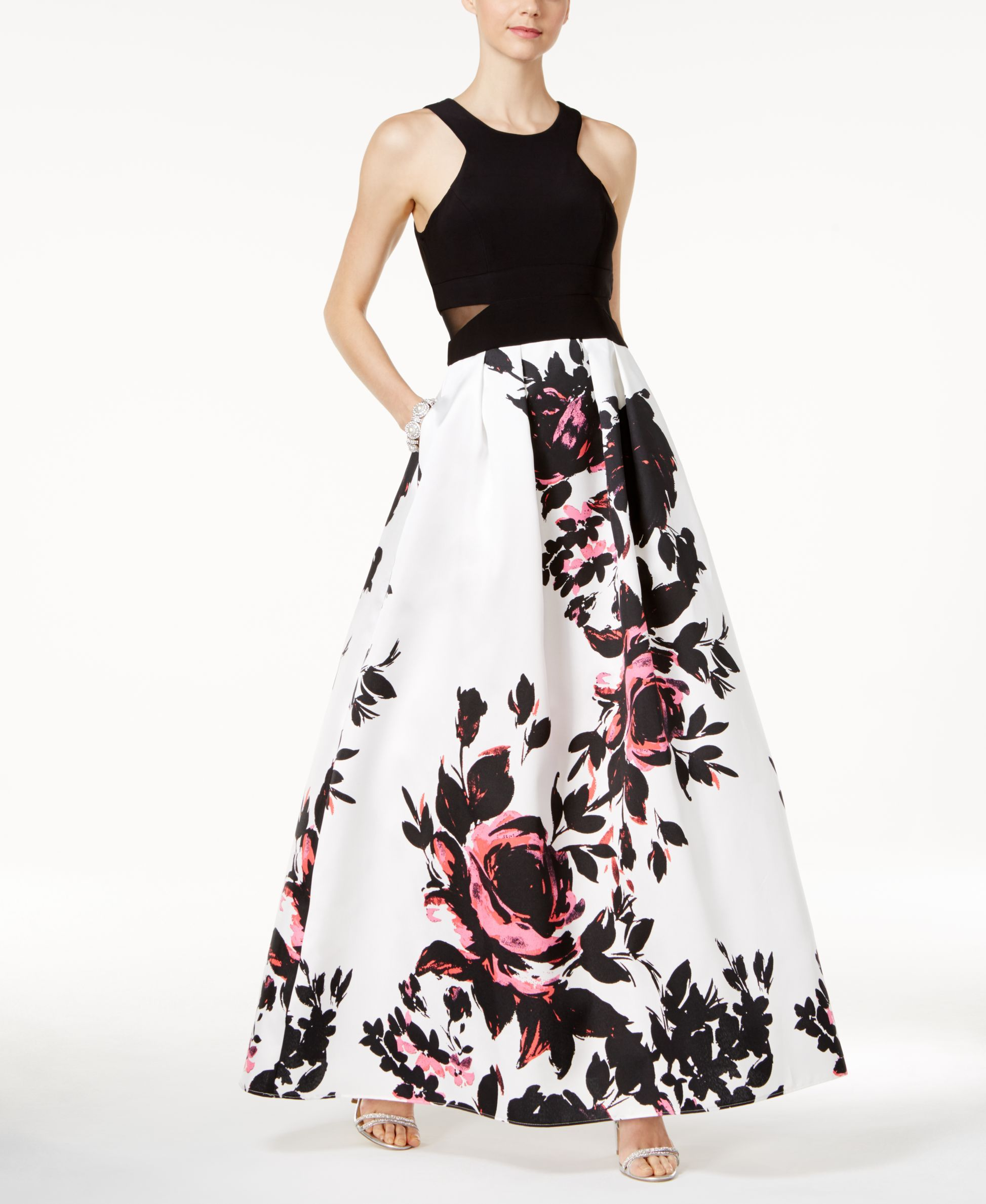 ad7742d5 Xscape Floral-Print Ball Gown | Products in 2019 | Floral print ...
