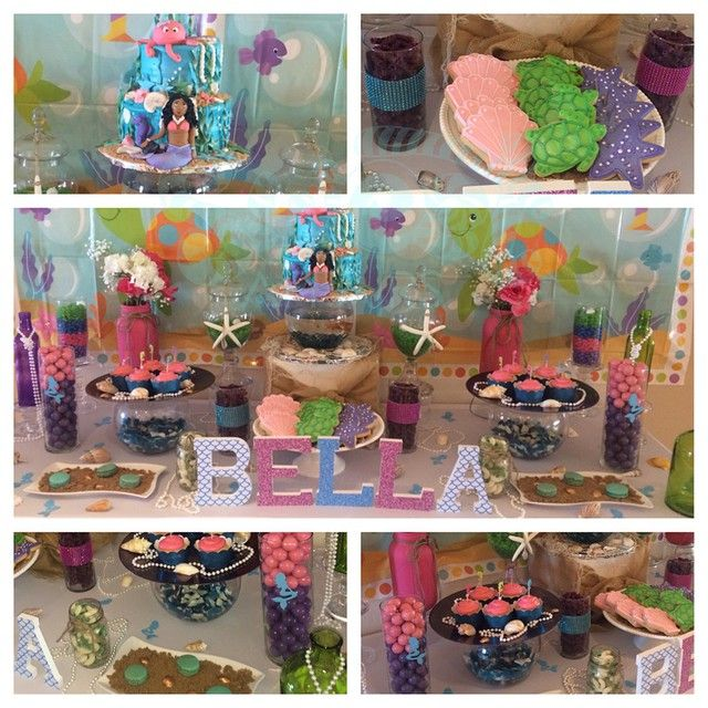 """Under the Sea  #undertheseacookies #macaroons #undertheseacake #candybuffet #dessertbuffet #sweetaffairs #eventplanning #underthesea…"""