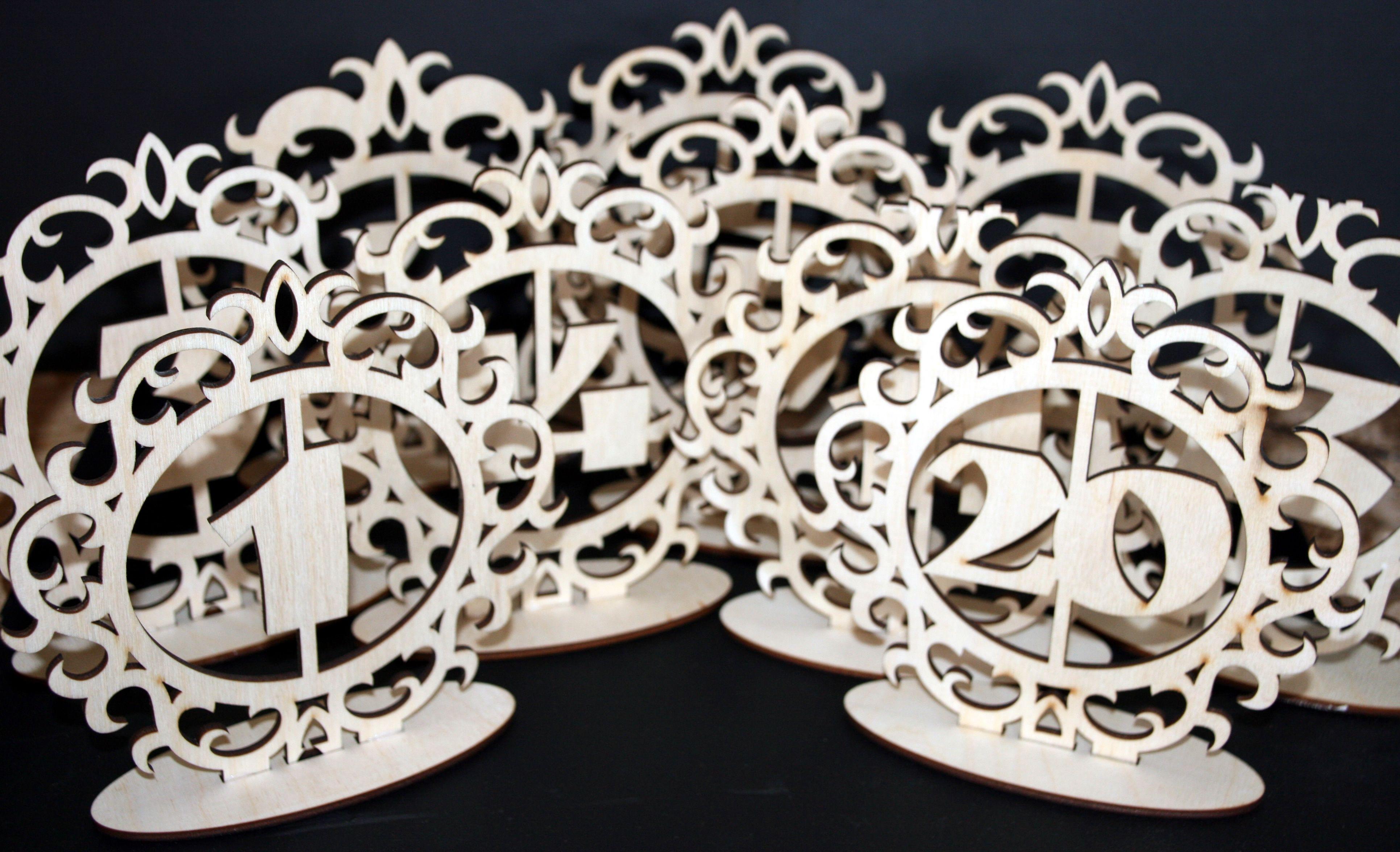 Esküvői asztalszámok 120ig (No.01) Faajándék.eu