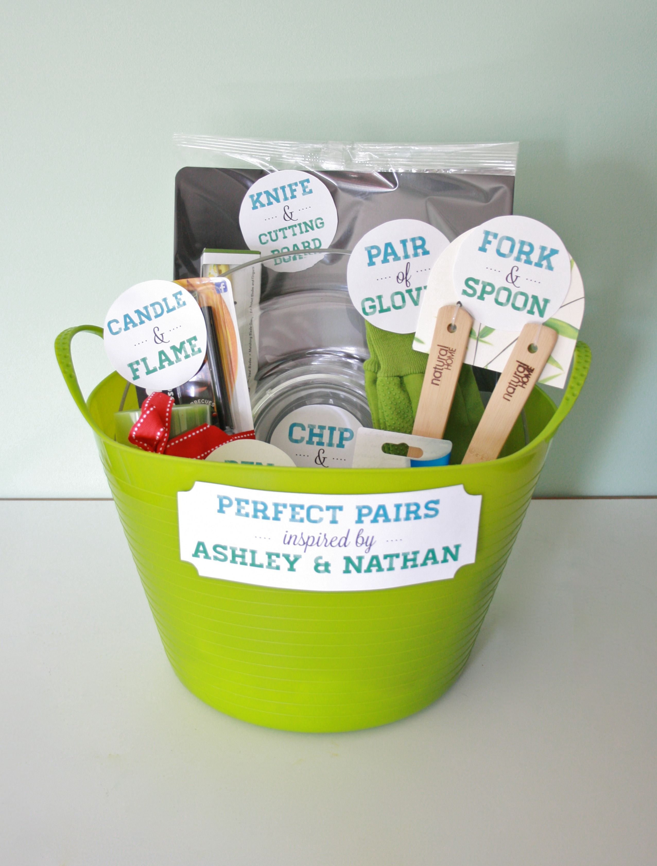 perfect pairs a bridal shower gift basket dream green diy