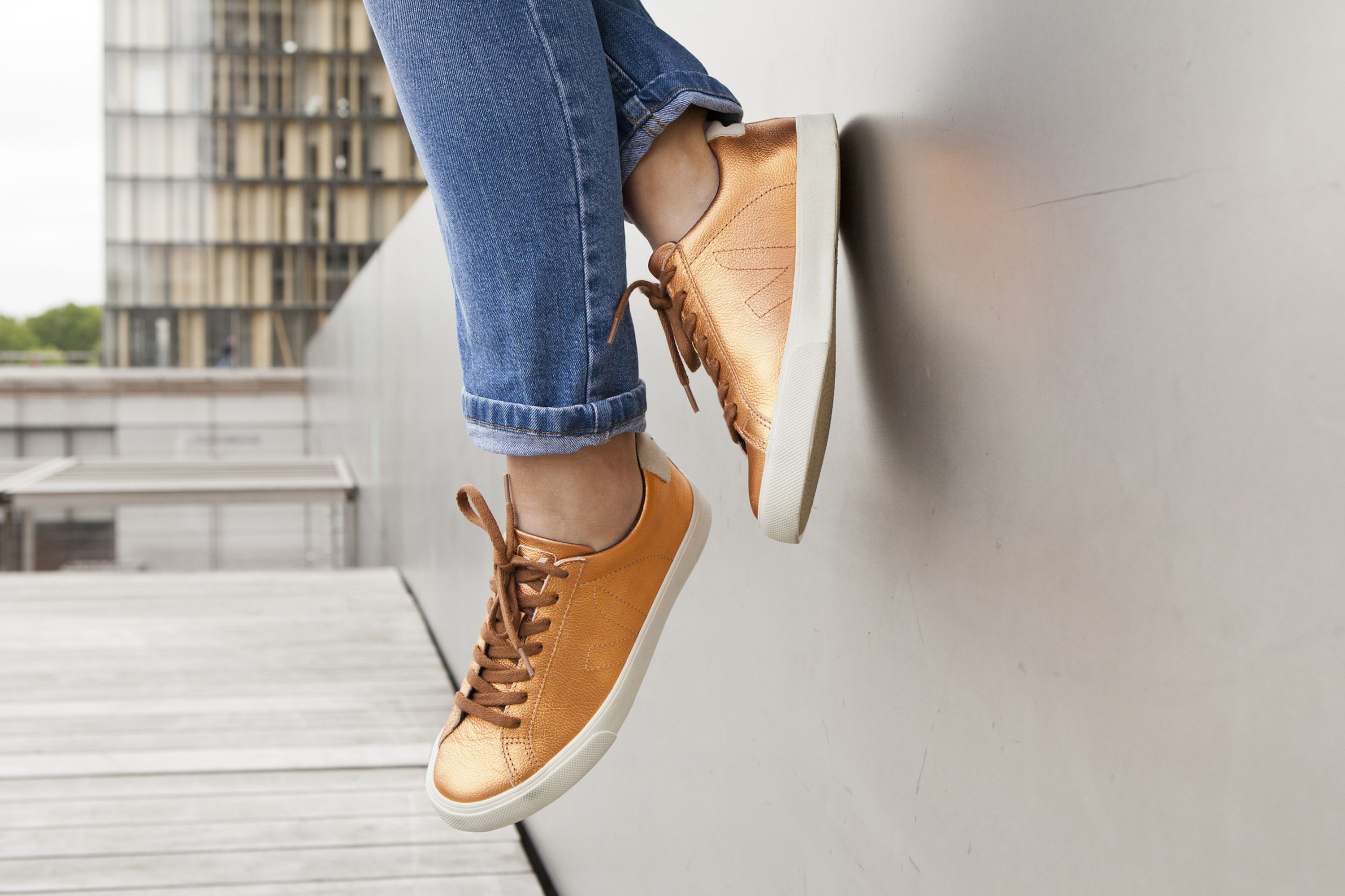 VEJA Esplar leather copper. Available on veja.fr #veja #vejashoes #copperkicks