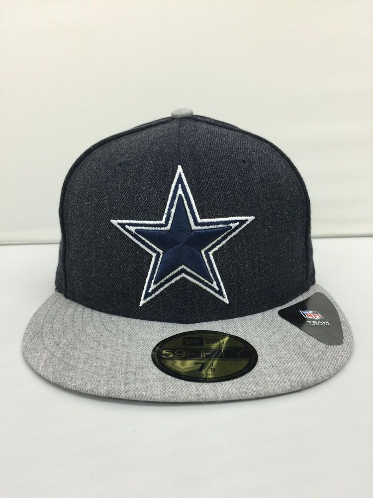 Mens dallas cowboys heather navy basic hats new era 5950