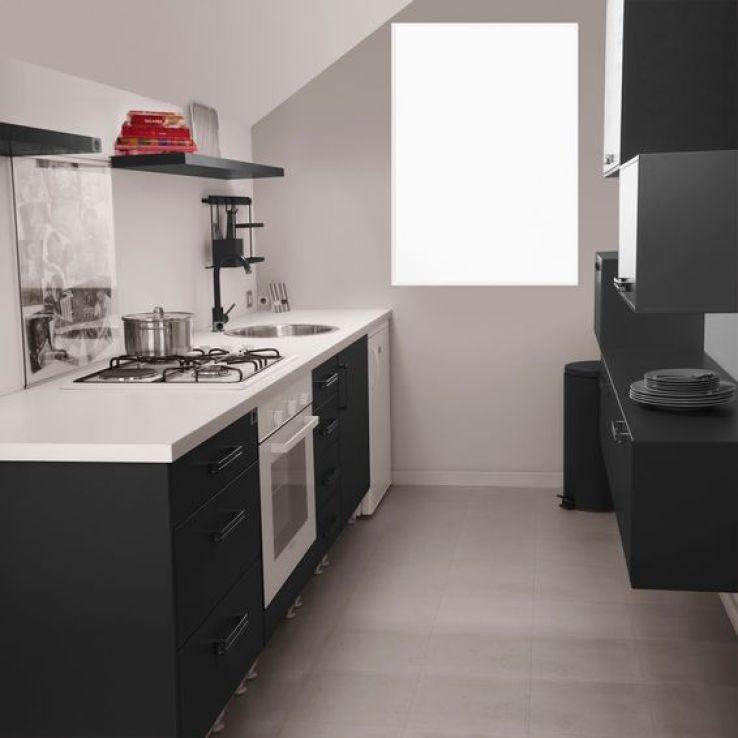 Des petites cuisines inventives et stylées - SFR News petite - Photo Cuisine Rouge Et Grise