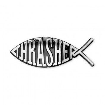 4437970c Thrasher Fish Car Emblem | Accessories | Thrasher magazine, Magazine ...