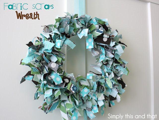 Fabric Scraps Wreath - #Crafts