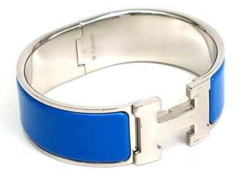 796f2d4e57 Get the lowest price on HERMES Clic Clac H PM Bracelet Enamel/Palladium and  other fabulous designer clothing and accessories! Shop Tradesy now
