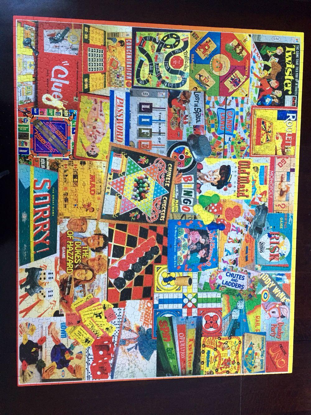 Board Games 1,000 piece White Mountain puzzle Board