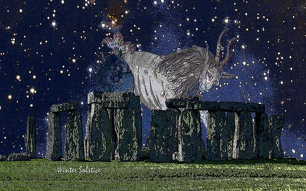 Stonehenge Winter Solstice, a digital painting by Michele Avanti  On December 21st of each year, the Sun enters Saturn's zodiac sign of Capricorn. Stonehenge an ancient site, considered sacred to druids and pagan people who looked to the stars and nature for answers and signs of God or Creator's directive. Both Western and Eastern Astrology agree that the cardinal points, which we know as the solstices and equinoxes are times of power. #solstice, #winter, #capricorn