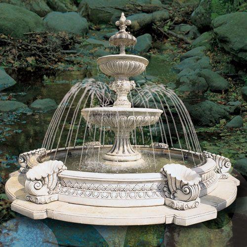 Fuentes de jard n con estanque fuentes de jardin - Jardin con estanque ...