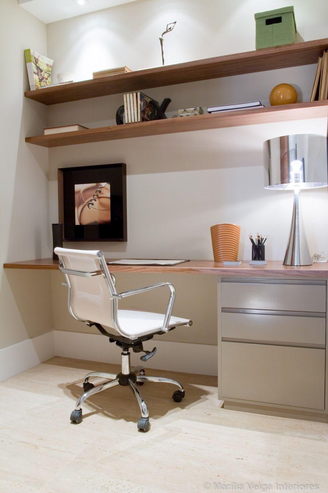 office floating desk small. Foto Home Office Do Apartamento Modelo Dacorado Premier Ceramicas\u2026 Floating Desk Small